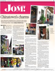 Write up on Chinatown Cultural Walk by the New Straits Times (6th May 2021)